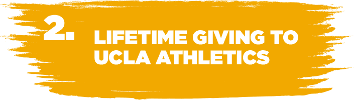 2. LIFETIME GIVING TO UCLA ATHLETICS